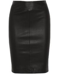 Joseph Clara Stretch Leather Pencil Skirt