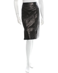 Prada Classic Leather Skirt