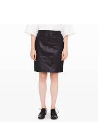 Club Monaco Lana Leather Skirt