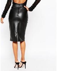 2230b978aa Asos Collection Pu Pencil Skirt With Pocket Detail, $57 | Asos ...