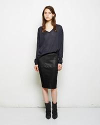 Isabel Marant Devon Leather Skirt