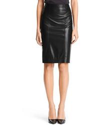 Diane von Furstenberg Leather Combo Pencil Skirt