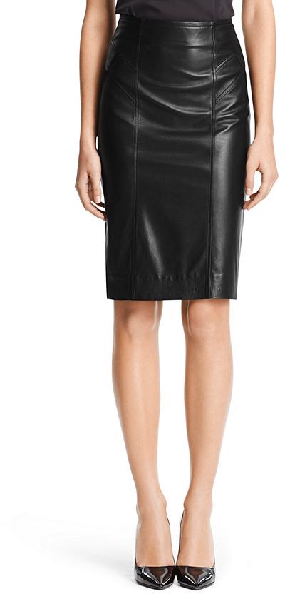 diane furstenberg leather combo pencil skirt where