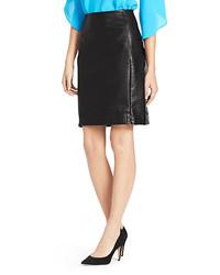 Diane von Furstenberg Rita Two Leather Pencil Skirt