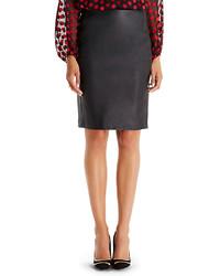Diane von Furstenberg Dvf Cloe Leather Pencil Skirt