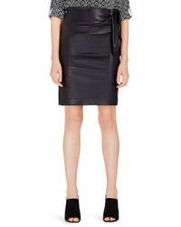 Diane von Furstenberg Dvf Roxanne Leather Combo Pencil Skirt