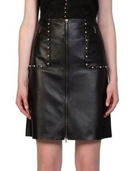 Lanvin Embellished Leather Pencil Skirt