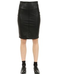Es'givien Faux Leather Pencil Skirt