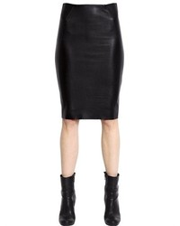 McQ by Alexander McQueen Faux Leather Jersey Pencil Skirt