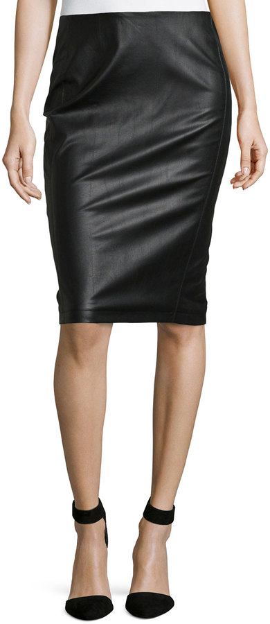 Romeo & Juliet Couture Faux Leather Pencil Skirt Black | Where to ...
