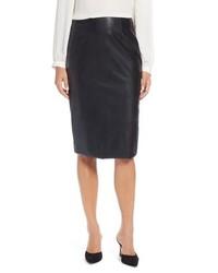 Halogen Faux Leather Pencil Skirt