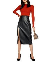 b3e4df5bd9 Black Leather Pencil Skirts for Women | Women's Fashion | Lookastic.com