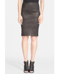 Vince Genuine Leather Pencil Skirt