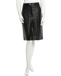 Hermes Herms Leather Skirt