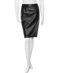 Loewe Leather Knee Length Skirt