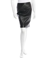 Valentino Leather Mini Skirt