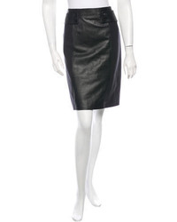 Tory Burch Leather Paneled Skirt W Tags