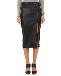 ATM Anthony Thomas Melillo Leather Pencil Skirt Black Size 0