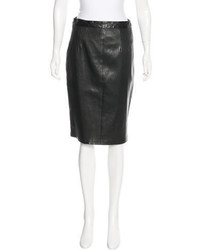 Prada Leather Pencil Skirt
