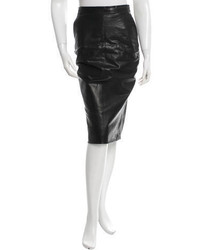 Rick Owens Leather Pencil Skirt