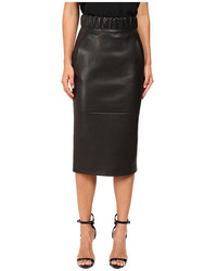 Neil Barrett Leather Pencil Skirt