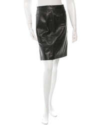 Salvatore Ferragamo Leather Pencil Skirt