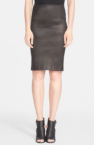 Vince Leather Pencil Skirt | Where to buy & how to wear