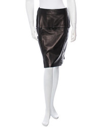 Prada Leather Pencil Skirt W Tags