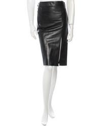Alexander McQueen Leather Skirt