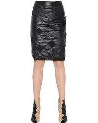 Maison margiela quilted nappa leather skirt with chain medium 687170