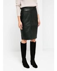 Mango Leather Pencil Skirt