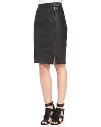 Rebecca Minkoff Marlo Leather Knit Pencil Skirt