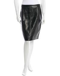 Michael Kors Michl Kors Knee Length Leather Skirt