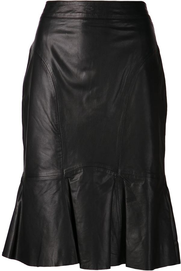 moschino cheap chic leather pencil skirt where to buy