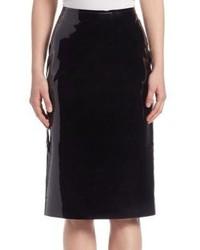 Lanvin Patent Leather Pencil Skirt