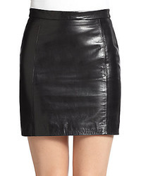 RED Valentino Leather Mini Pencil Skirt