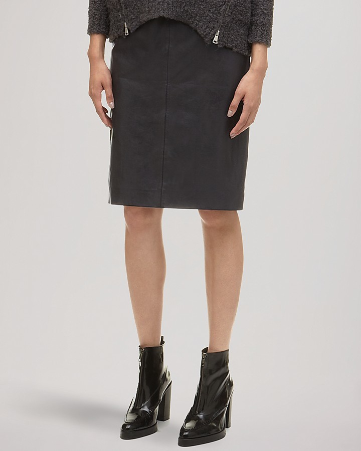 6f7a6dabfe Whistles Skirt Kel Leather Pencil, $370 | Bloomingdale's | Lookastic.com