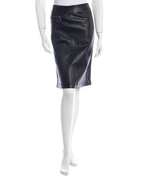 Prada Sport Leather Skirt