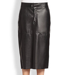 Helmut Lang Stilt Leather Pencil Skirt