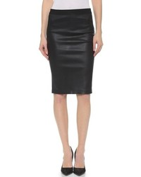 Helmut Lang Stretch Leather Pencil Skirt