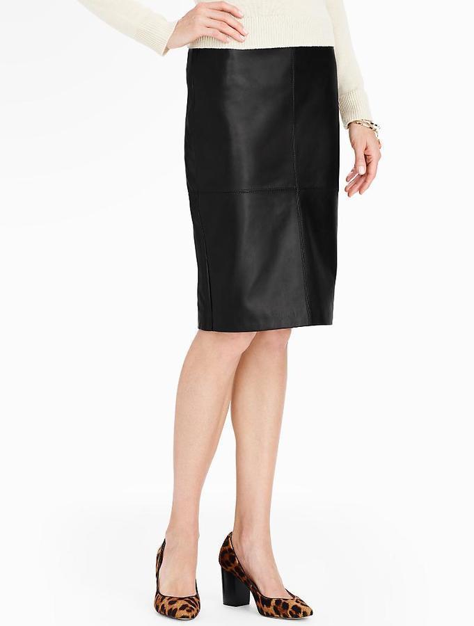 6da22ff457 Talbots Leather Pencil Skirt, $249   Talbots   Lookastic.com
