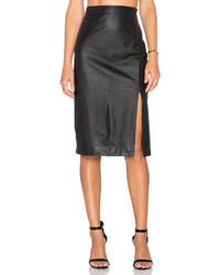 Ty Lr The Com Leather Skirt