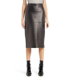 Valentino studded lambskin leather skirt medium 687088
