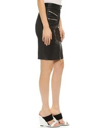 Rachel Zoe Veda Zip Pocket Leather Pencil Skirt | Where to buy ...
