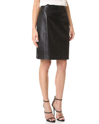 What goes around comes around alaia leather skirt medium 687082