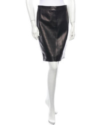 Saint Laurent Yves Leather Skirt