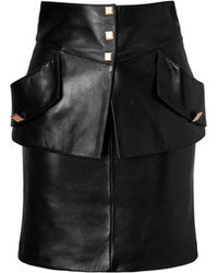 Ungaro Emanuel Leather Pocket Skirt In Black