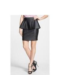 Glamorous Faux Leather Peplum Skirt