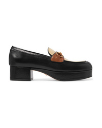 Gucci Horsebit Detailed Leather Platform Loafers