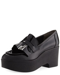 Robert Clergerie Verni Patent Leather Platform Loafer